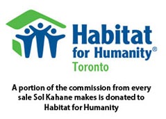 A portion of the revenue from every sale I make is donated to Habitat For Humanity Toronto