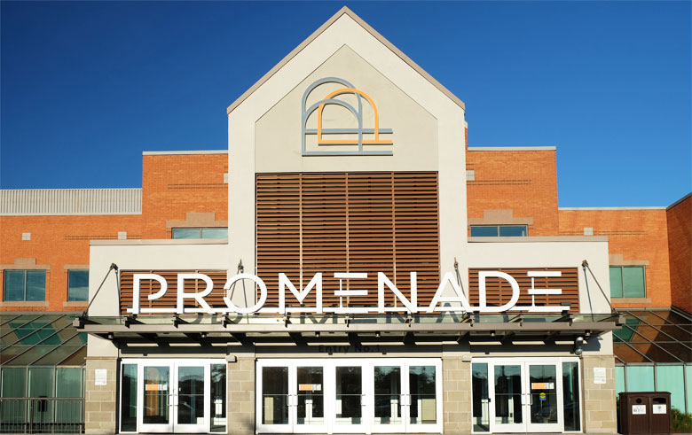 Promenade is a very popular shopping mall in Thornhill, Ontario